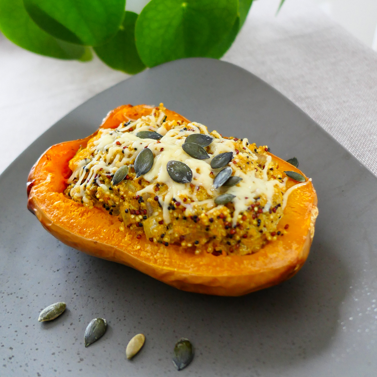 courge butternut au quinoa et curry